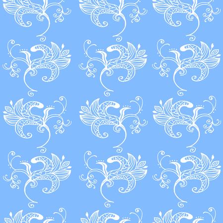 Illustration originale de haute qualité de modèle sans couture de fleur de printemps pour décor, cartes postales, design ou invintation