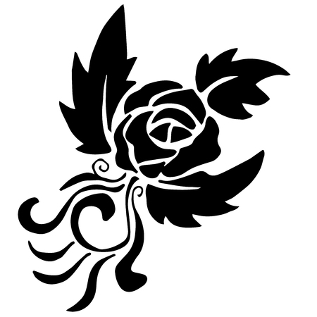 rose tattoo: very high quality original rose for coloring of tattoo