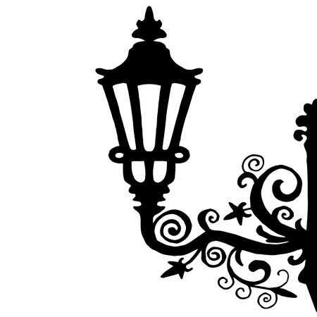 Very high quality original trendy  vector illustration of magical old style lantern