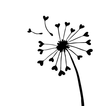 breakable: Very high quality original trendy  vector illustration of a dandelion Illustration