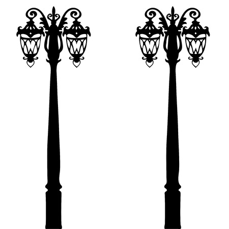 clipart street light: Very high quality original trendy  vector illustration of magical old style lantern