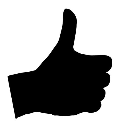 flick: High quality original illustration of thumbs up gesture
