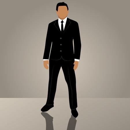Uomo d'affari o manager di vettore di tendenza originale di alta qualità in vestito