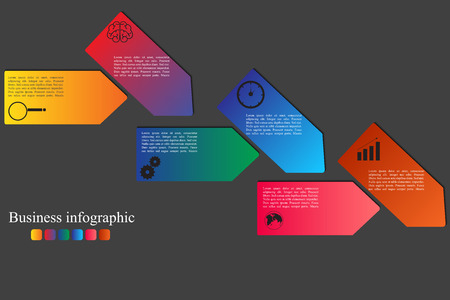 step up: High quality original trendy vector Modern business infographics style options banner. number options, diagram, step up options, web design, infographics.