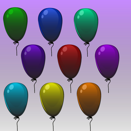bunch of hearts: High quality original trendy vector color balloons. Can be used for cards, gifts, invitations, sales, banners, web design Illustration