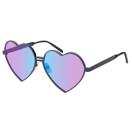 heart very: Very high quality original trendy realistic vector glasses in heart shape