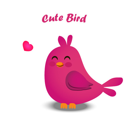 High quality original trendy vector illustration of cute colorful birds Illustration