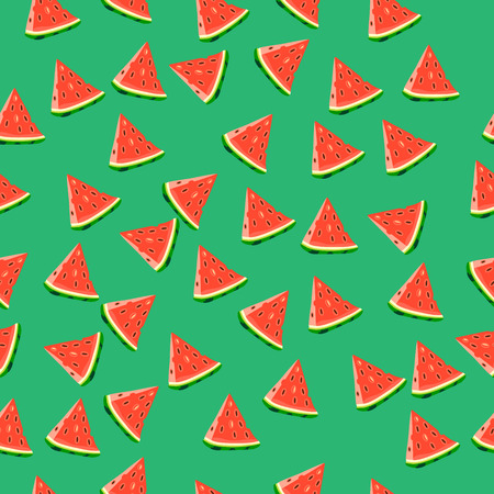 Very high quality original trendy vector seamless pattern with a watermelon
