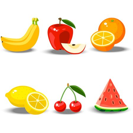 illustration of a fruit set Stock Photo
