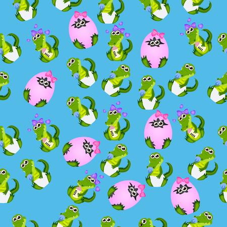 baby crocodile or alligator Illustration