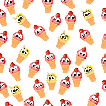 sorbet: illustration of ice cream