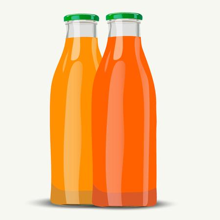 marmalade: realistic juice botttle Illustration