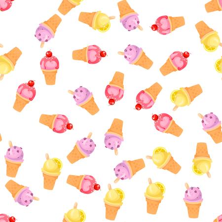 ilustración de helados