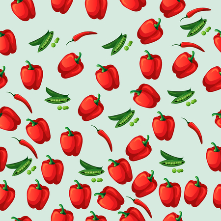 grean peas pod Illustration