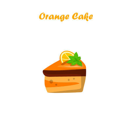 Very high quality original trendy vector illustration of orange cake or pie Illustration