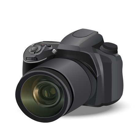 Illustratie van realistische camera