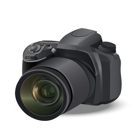 illustration of realistic camera