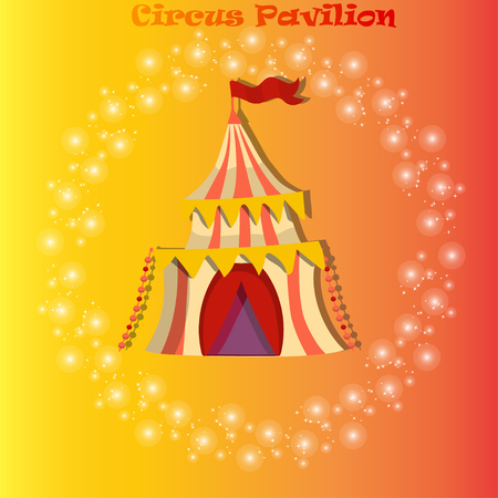 circus or carnaval tent or pavilion Illustration