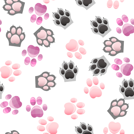 toes: cat and dog paw print with claws