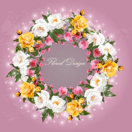 bouquet van rozen Stock Illustratie