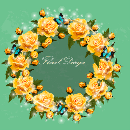 bouquet of roses Illustration