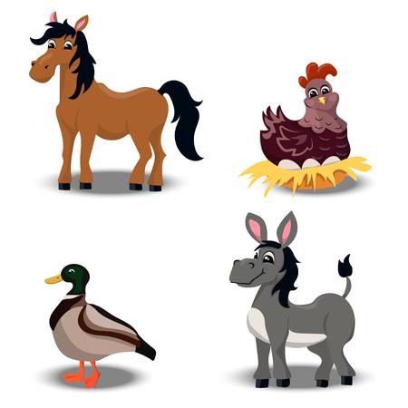 farm Animals set Illustration