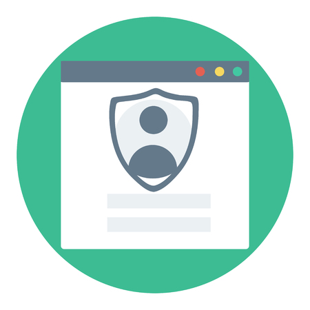 private access: Trendy login or authorization screen with human icon. Protected connetion or authentication frame. Member settings frame or employee profile. Antivirus settings