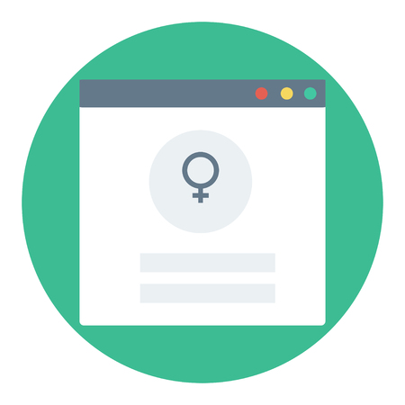 Trendy login or authorization screen with Male sexual orientation icon. Member settings frame or employee profile Illustration