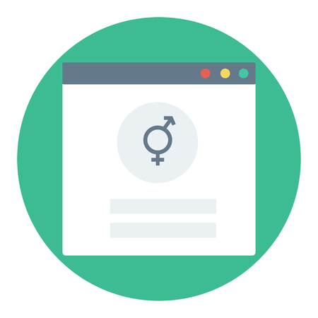 Trendy login or authorization screen with transgender orientation icon. Member settings frame or employee profile