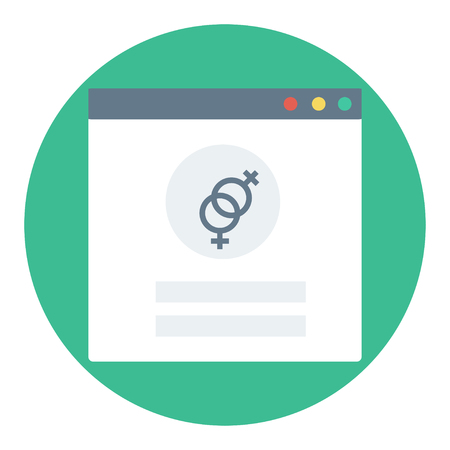 Trendy login or authorization screen with homo or lesbian orientation icon. Member settings frame or employee profile Illustration