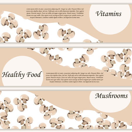 High quality vector illustration of muschrooms label.