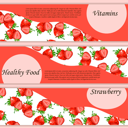 Vector square label, strawberry jam or juice Stock Photo