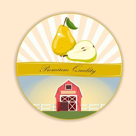 logo of fresh green pear juice.