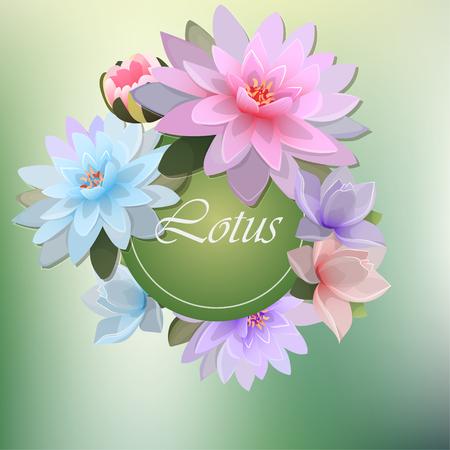 illustratie van lotusbloem