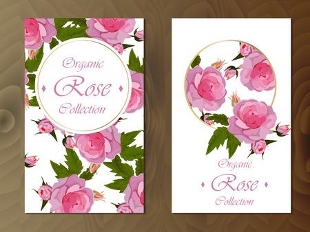 Viering briefkaart ontwerp met rozen. Groot ontwerp voor huwelijk of andere vieringsuitnodiging