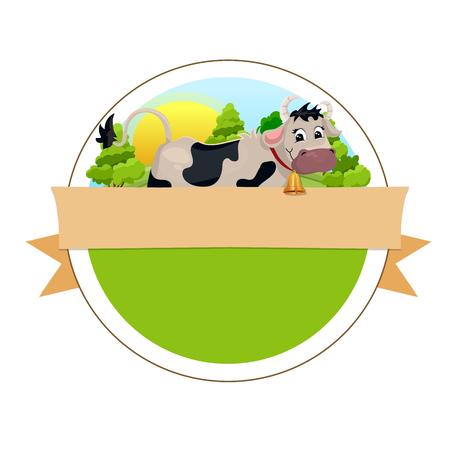 Koe op groene weide
