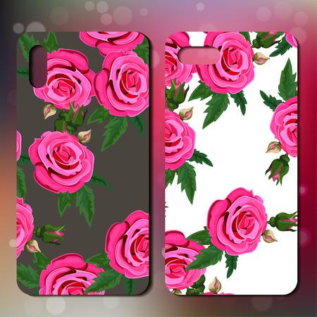 Telefoonhoes met rozen Stockfoto