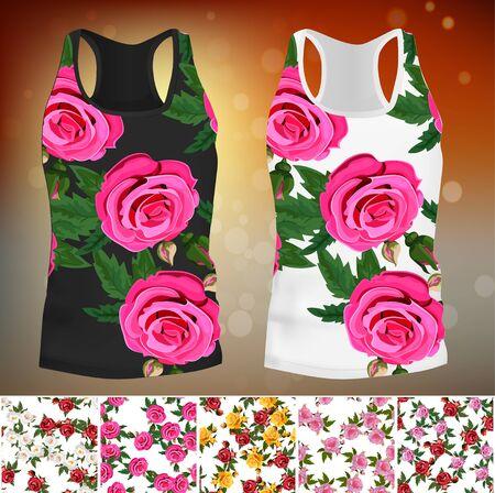 T-shirt met een trendy roze ontwerp