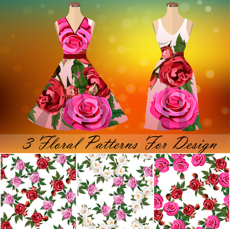 Dress with an trendy rose design