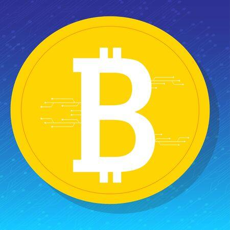 Bitcoin. Digitale valuta Stockfoto