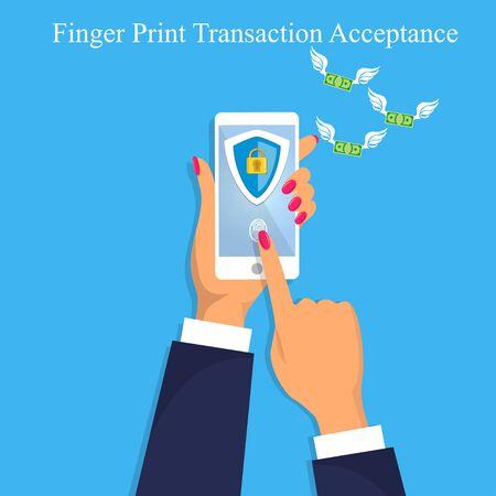 goedkeuring vingerafdrukgeld acceptatie