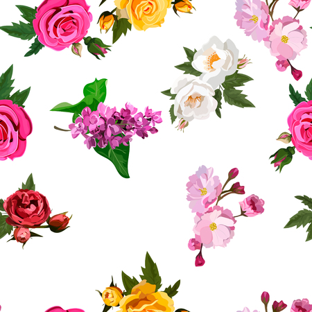 boeket bloemen Stock Illustratie