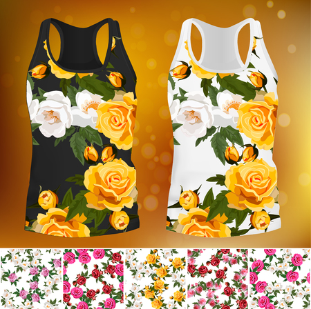 T-shirt with an trendy rose design