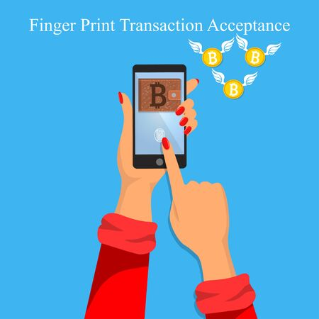 finger print money trasnaction acceptance
