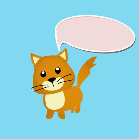 Kattenspeeltje of -karakter Stockfoto