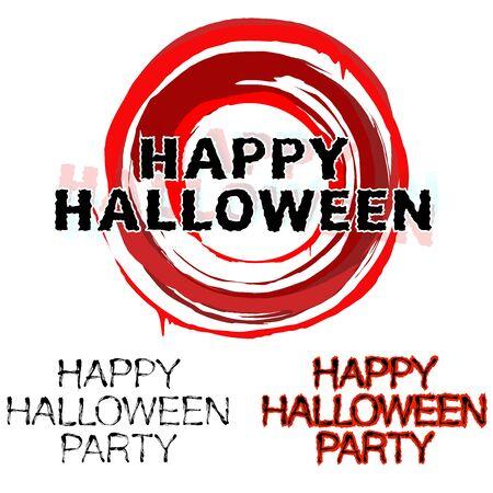Happy halloween party illustration. Illustration