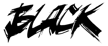 Black cola pen calligraphy illustration