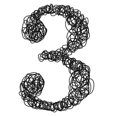 Ballpoint pen curls.Vector number. Vektoros illusztráció