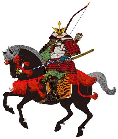 samourai: Histoire japonaise Samurai en armure Banque d'images