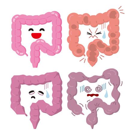 Unhealthy colon and healthy colon